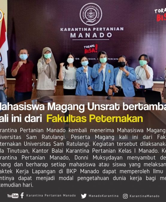 Kegiatan Magang Mahasiswa Fakultas Peternakan di Balai Karantina Pertanian Manado