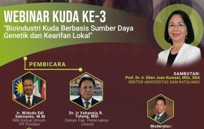 Webinar Kuda ke-3 Fakultas Peternakan